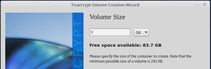Add Container Volume Size