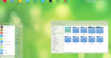 Chalet os green desktop