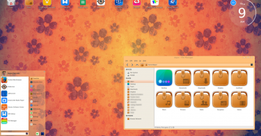 ChaletOS Orange desktop