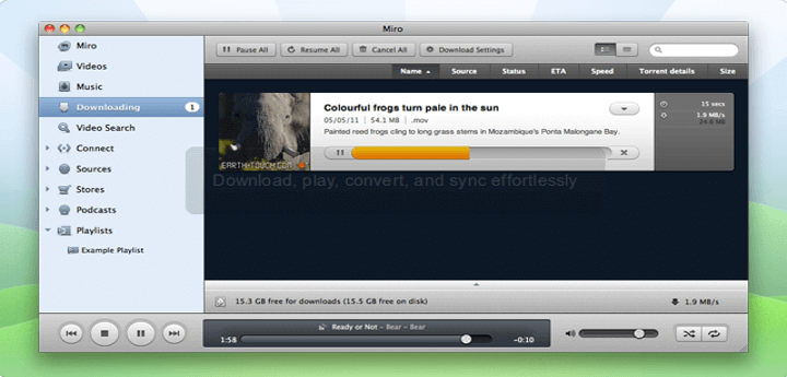 Miro Music and Video Player for Linux