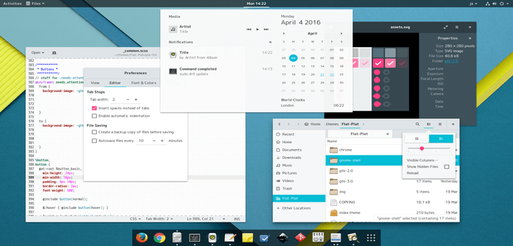 Nana Flat Plat is a Material Inspired GTK Theme For GNOME