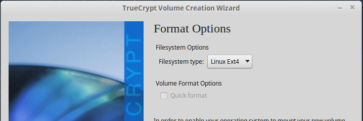 Select Filesystem Type