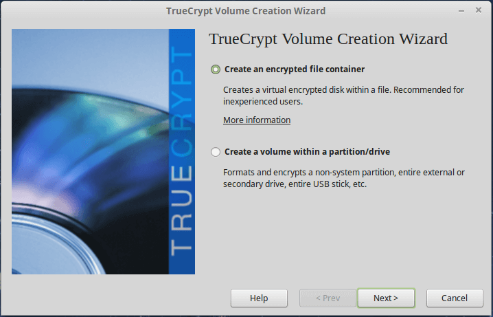 TrueCrypt: Create an Encrypted File Container