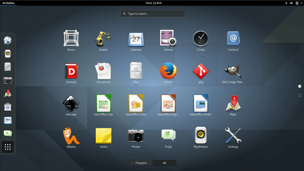 Gnome 3.20 Applications View