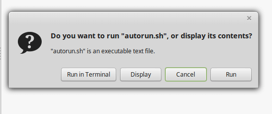 Options To Run Autorun.sh File