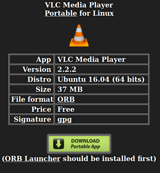 Download Portable VLC App
