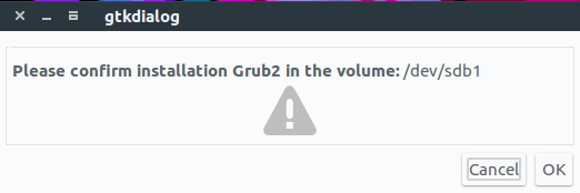 grub2 confirmation