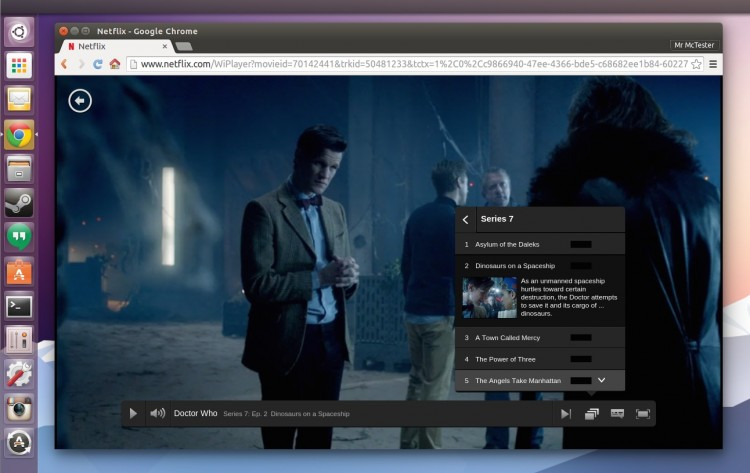 Netflix on Google Chrome