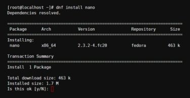 DNF Install Example