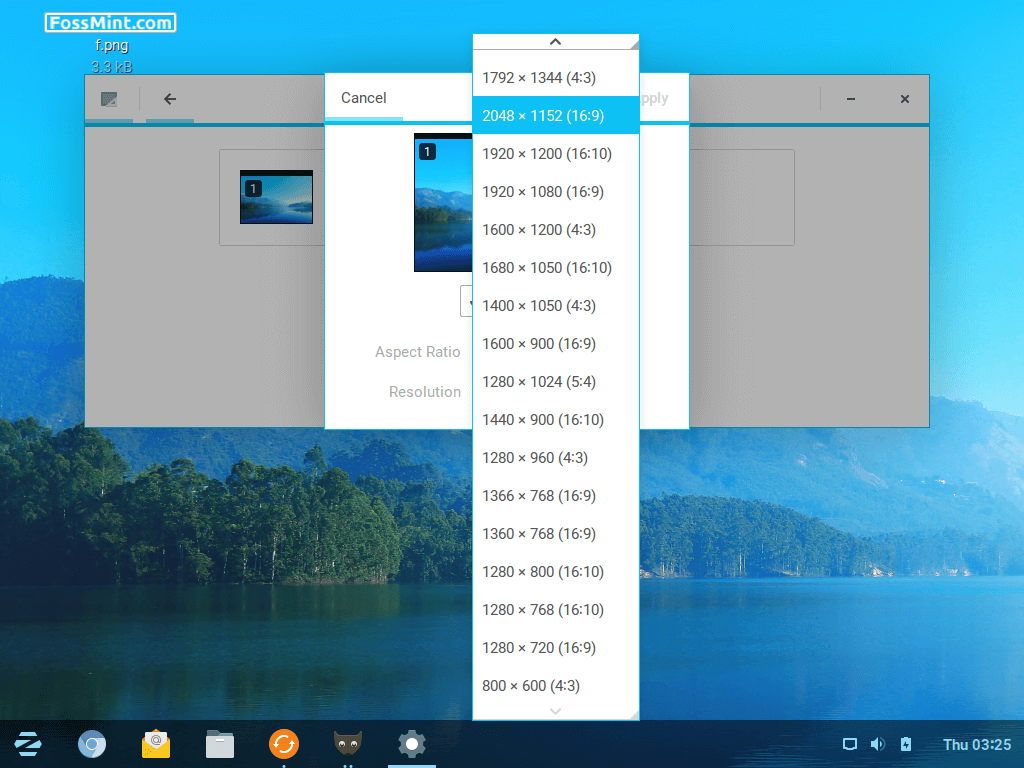 Zorin OS Display Resolution