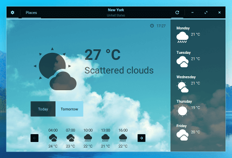 Zorin OS Weather