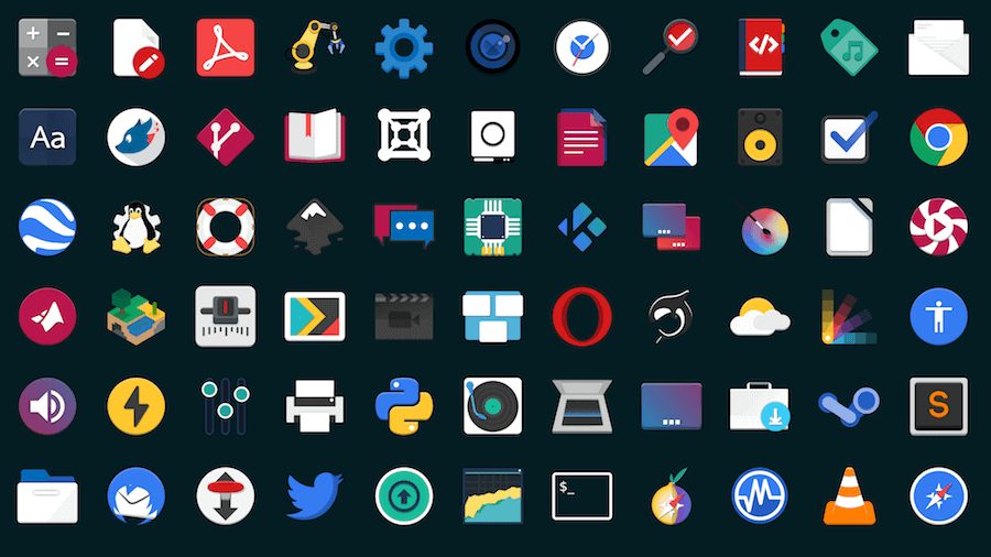Flat Remix Icons