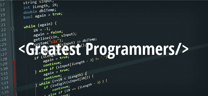 Greatest Programmers of World