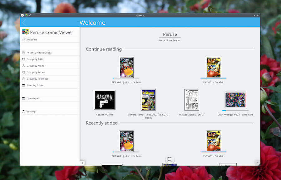 Peruse Comic Reader on Linux