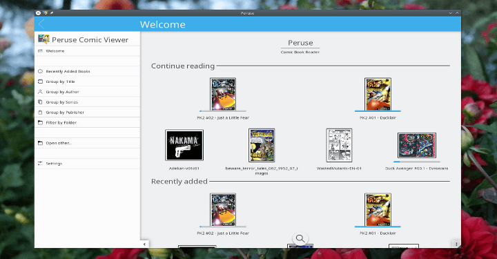 Peruse Comic Reader for Linux