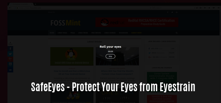 SafeEyes - Protect Your Eyes from Eyestrain