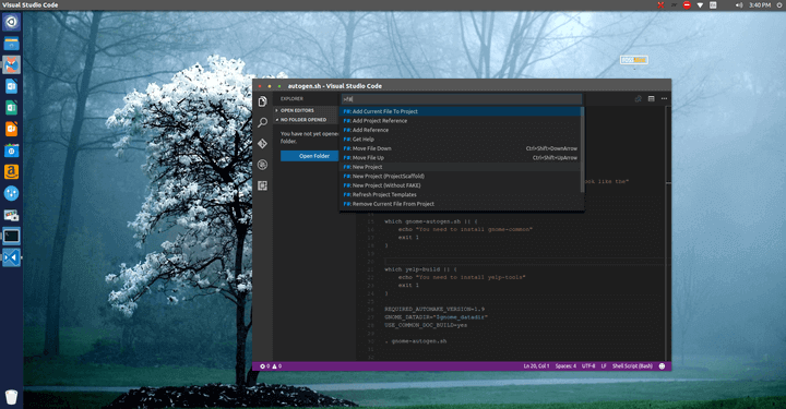 Use Fsharp with Visual Studio Code