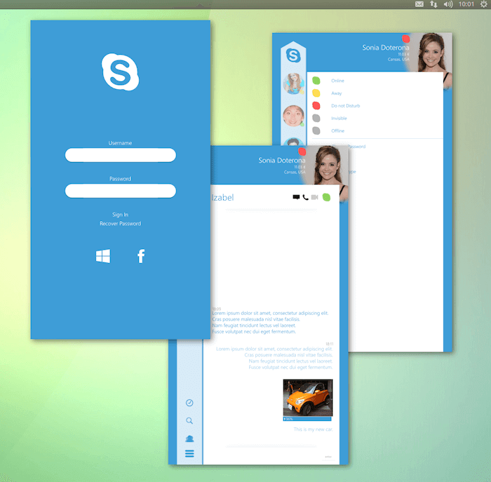Skype for Linux App Concept