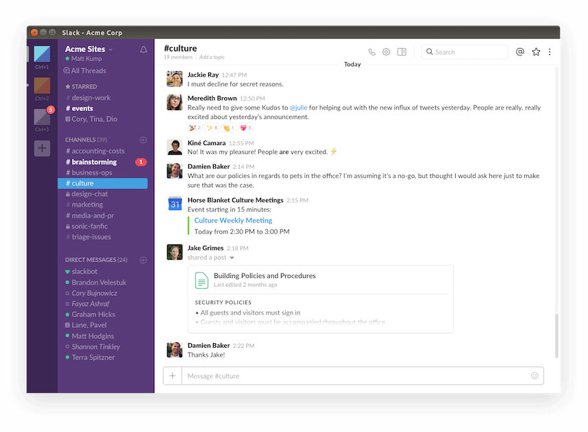 Slack Instant Messaging App for Linux