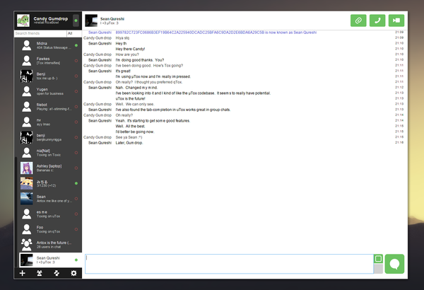 Tox Instant Messaging App for Linux