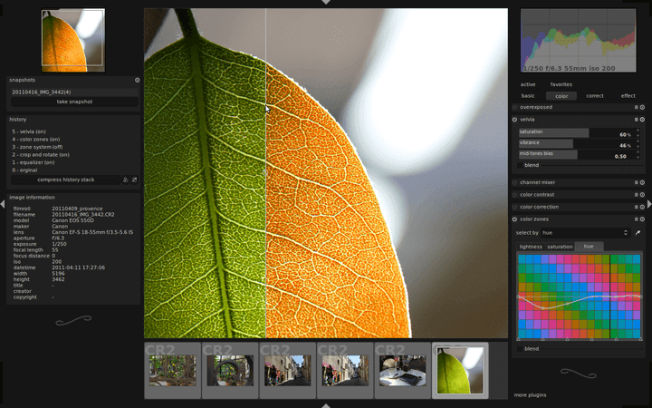 Darktable Preview 3