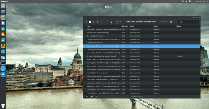 Museeks Music Player for Linux