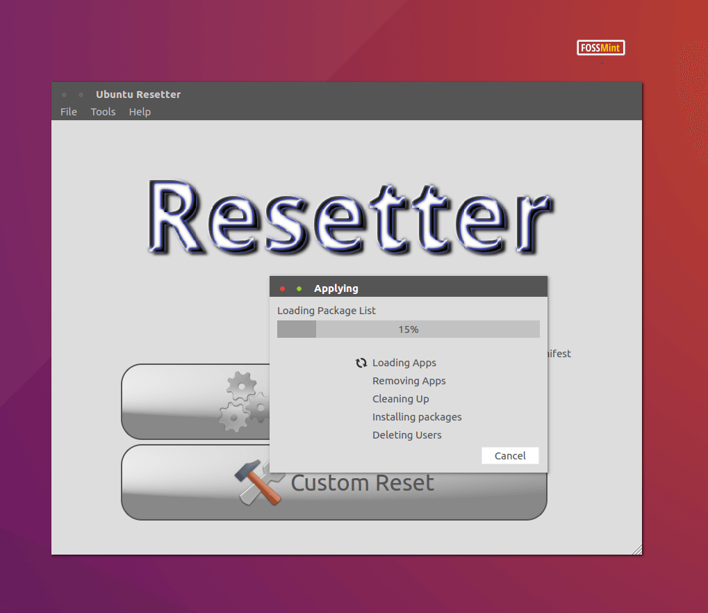 Resetter - Resetting Ubuntu to Default