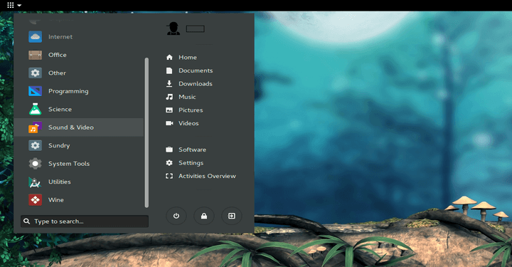 Arc Menu Launcher for GNOME