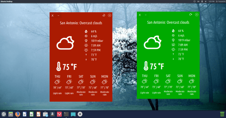 Cumulus-QT - Weather App for Linux