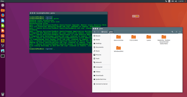 Grive2 - Google Drive Desktop Client for Linux