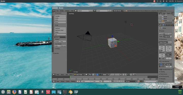 Blender 3D Creation Tool for Linux