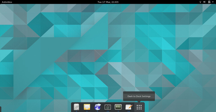Dash to Dock for Gnome Desktop