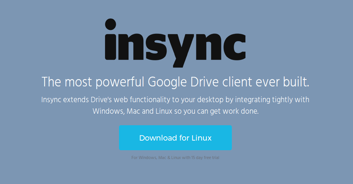 Insync Google Drive Client