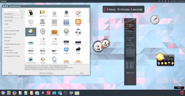 Screenlets - Add Widgets to Ubuntu Desktop