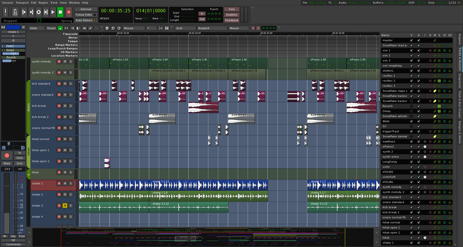 Ardour - An Audio Editor for Recording and Mixing Sounds