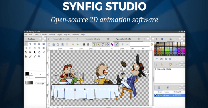 Synfig Studio Linux 2D Animation Software