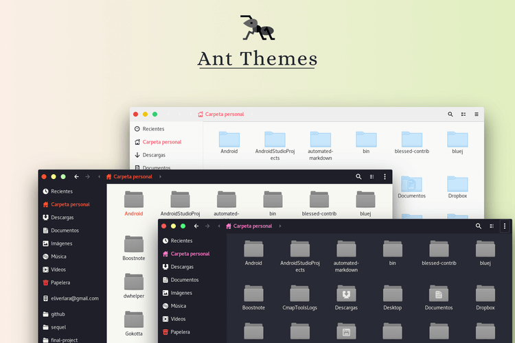 Ant Themes for Linux