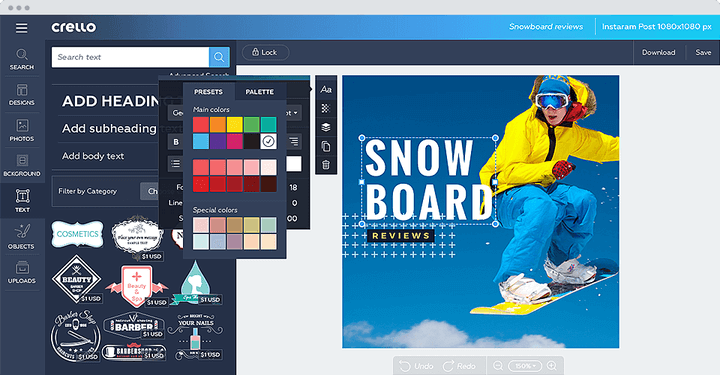 Crello Cloud Graphic Design Tool