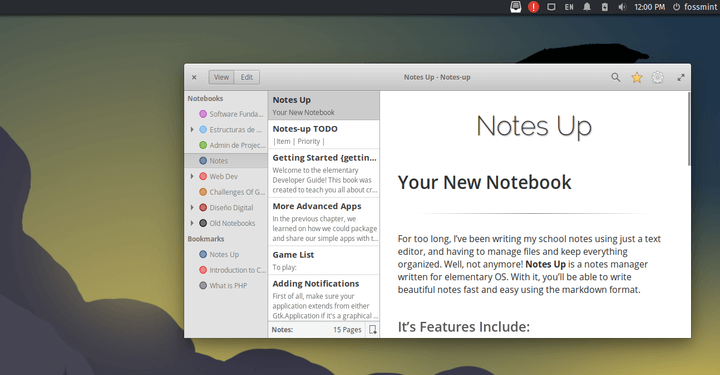 Notes-Up Markdown Note Editor