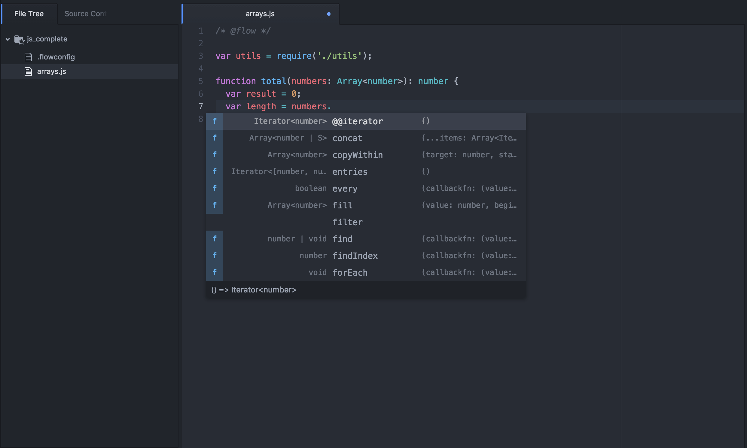 Nuclide Developing JavaScript