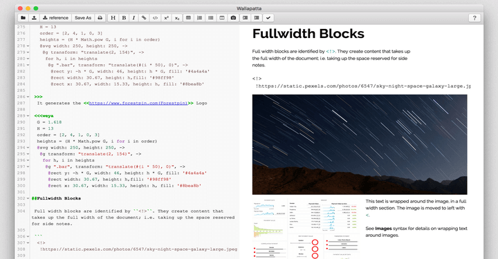 Wallapatta - A Beautiful Markdown Editor with Layout Support
