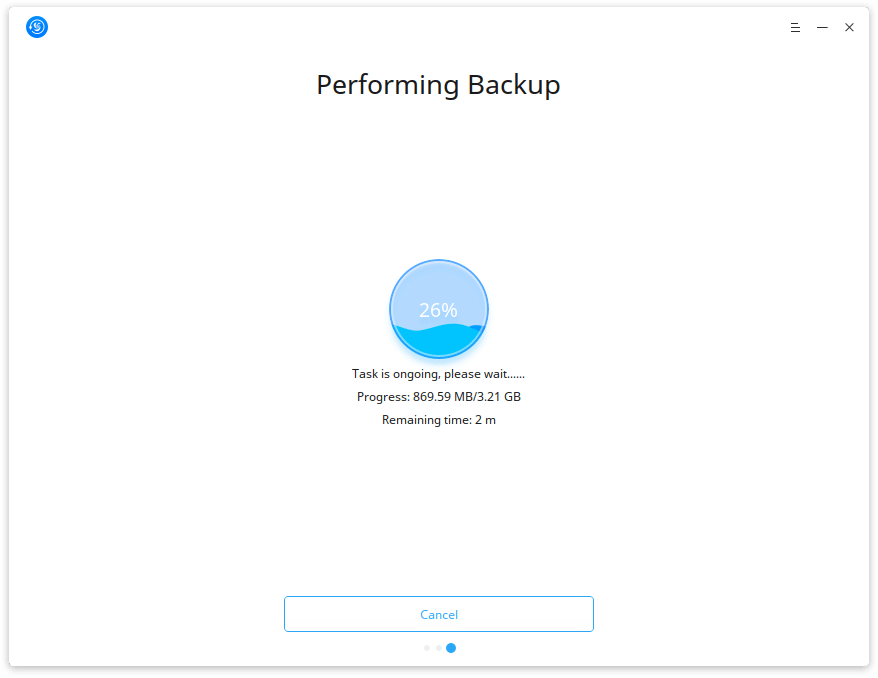 Deepin Clone Performing Backup