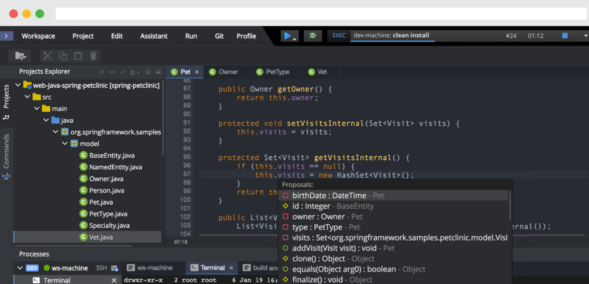 Eclipse Che Cloud IDE Editor