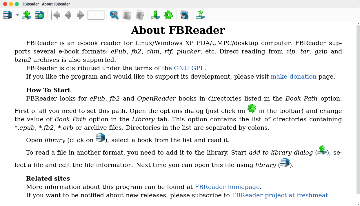 FBReader Book Reader App