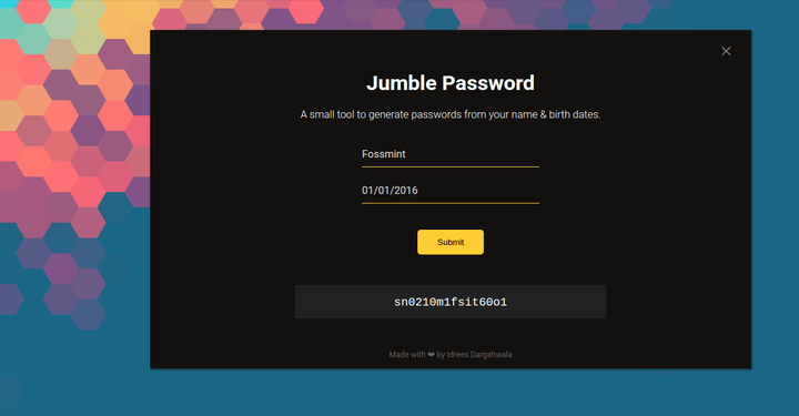 Jumble Password Generator for Linux