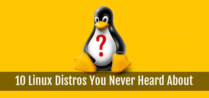 Linux Distros You Never Heard About