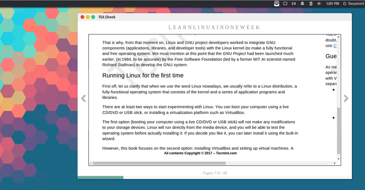 TEA Ebook - Linux eBook Reader