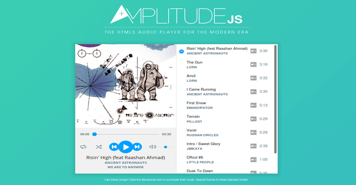 Amplitude HTML5 Audio Player
