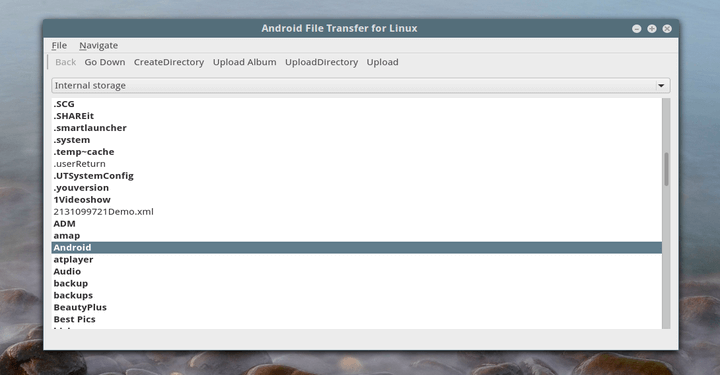 Android File Transfer for Linux