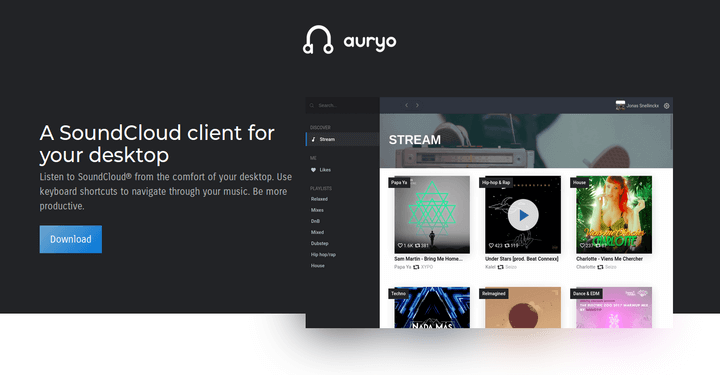Auryo Soundcloud Desktop Client